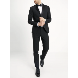 BASIC PLAIN BLACK TUX SUIT SLIM FIT - Completo